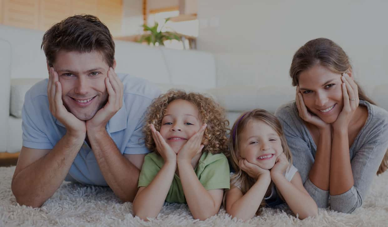 Happy family enjoying the freedom of Financial Security